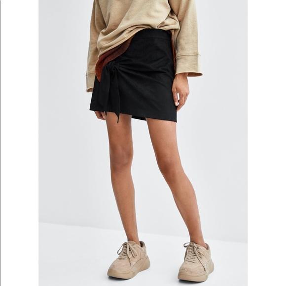 Zara Dresses & Skirts - Zara TRF Black Suede Knot Skirt 💞